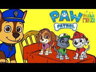 Cinco Perritos con la Patrulla Canina. Letras de canciones infantiles