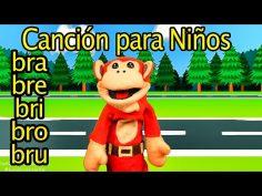 Canción del bra bre bri bro bru. El Mono Sílabo nos ayuda a pronunciar.