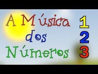 Canción infantil. A música dos números animação infantil en portugués.
