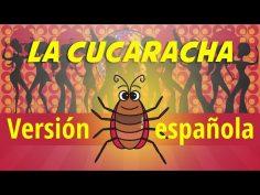 La Cucaracha Versión española para niños, video con letras karaoke infantil