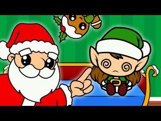 Canción de navidad infantil. Cinco ayudantes de papá Noel.